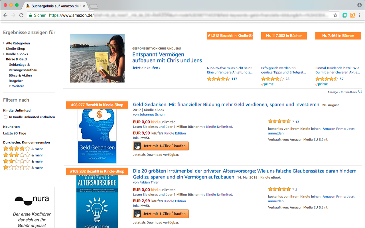 Amazon Bestseller Rang von Pineapple Developer, Inhaber Johannes Schuh - Screenshot des Chrome Extensions